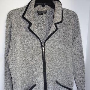 Women's Sweater Zip-Front Cardigan size L